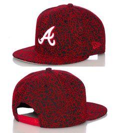 NEW ERA Atlanta Braves MLB snapback cap All-over elephant print Baseball Adjustable strap Embroidered team logo on front NEW ERA stitching on sides