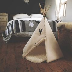 Off-White And Grey Tepee