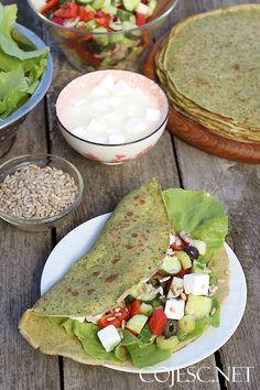 Szybki obiad: zielone naleśniki | Zdrowe Przepisy Pauliny Styś