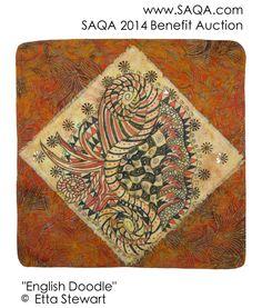 Art quilt by Etta Stewart #artquilts #SAQA