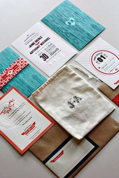 [beautiful + collection + cool + texture] Modern-Aspen-Forest-Letterpress-Wedding-Invitations ~designed by Kate Holgate