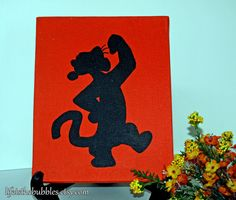 Tigger Sparkling Silhouette 8 x 10 Acrylic by Life is the Bubbles