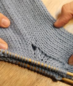 How to avoid hole in gusset