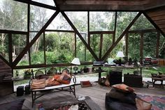 Moon to Moon: The Beautiful Wooden Dome House In A Forest / The Green Life <3