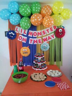 Little Monster Baby Shower #baby#shower#monsters#party