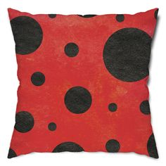 - 1 throw pillow with ladybug pattern - Soft, squishy and adorable accent piece…