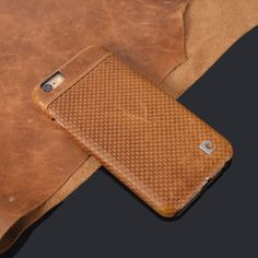 """Stylish Brown Genuine Leather Hard Back Case Cover For iPhone 6 6G 4.7"""" Phone cases Free Shipping"""
