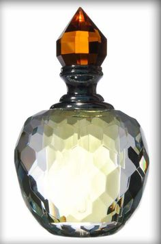 I've been looking for a new perfume for ages - found a lovely one today… Antique Perfume Bottles, Vintage Bottles, Bottle Vase, Glass Bottles, Art Nouveau, Beautiful Perfume, Swarovski, At Least, Container
