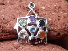 CHAKRA 925 SILVER PENDANT SILVERANDSOUL HANDCRAFTED JEWELLERY