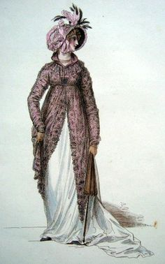Walking dress, 1803, Mirroir de la Mode