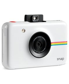 Make sure you capture those important moments in life with the Snap camera. Just like the Polaroids of old, this modern digital camera lets you print photos instantly. | Plastic | Imported | Includes