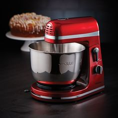 Mix and whip ingredients with ease with the thinkkitchen Professional Stand Mixer. With 6 speeds, this mixer will quickly become your favourite kitchen gadget! Crafted in stainless steel for lasting durability, the metallic red design will add a splash of Small Kitchen Appliances, Kitchen Aid Mixer, Stand Mixer, New Gadgets, Counter Top, Ruby Red, Kitchen Accessories, Holiday Gifts, Electric