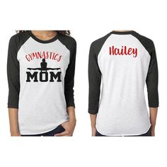 Gymnastics Dad Shirt With A Name On The Back Personalize