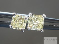 beautiful and well priced - these are lovely yellow diamond stud earrings