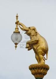 elephant lamp post