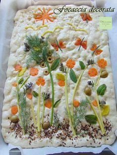 Cooking Herbs, Cooking Bread, Bread Baking, Cooking Recipes, Artesian Bread, Focaccia Bread Recipe, Fairy Bread, Food Art For Kids, Bread Art