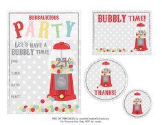 FREE Gumball Printables - via the Creative Orchard
