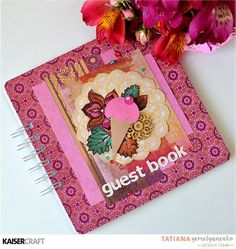 Party Decor 'Guest Book' (view E) by Tatiana Yemelyanenko Design Team member for Kaisercraft Australia Official Blog featuring their New May 2017 collection 'Bombay Sunset.' Learn more at kaisercraft.com.au/blog ~ Wendy Schultz ~ DIY Celebration + Party Décor. Specialty Paper, Third Birthday, Pattern Cutting, Silhouette Machine, Team Member, Clear Stamps, To My Daughter, Garland, Card Stock