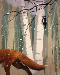 Winter Fox ~ Oksana Badrak #art #oksana_badrak