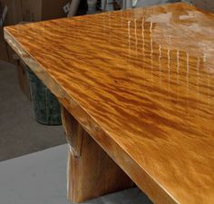 Ancient Kauri wood flamed desktop www.ancientwood.com
