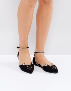 ASOS LEXUS Cat Pointed Ballet Flats
