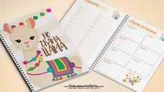 Planner Lhama 2019 2017 Planner, Agenda Planner, Download Planner, Printable Planner, Journaling, Planners, Paper Organization, Filofax, Diy And Crafts