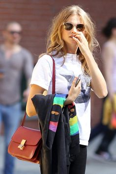Shirt and Celine bag