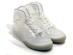 info for 8d7e4 b976d adidas ObyO JS WING CLEAR WHITE Jeremy Scott, Zapatillas Blancas, Zapatos  Deportivos,