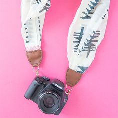 Turn an old scarf into a camera strap! Tutorial with video!