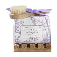Lavender & Bergamot Gardener's Soap with Tray
