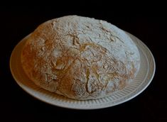 bread with crispy crust, a no kneed artisan bread, that almost tastes like sourdough.  note: it takes atlesast 14 Hours to rise, so plan the night or two ahead before you create this for a dinner party