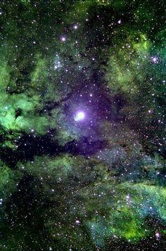 Diffuse emission nebula IC 1318 surrounding star Sadr or Gamma Cygni
