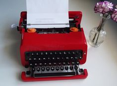 Iconic Red Portable Olivetti Valentine Vintage by OldTypewriters