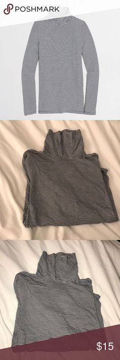 stripped tissue turtleneck Navy and white stripped tissue turtleneck. Worn once. Size medium J.Crew Factory Tops Tees - Long Sleeve