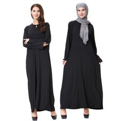 Islamic Clothing Traditional & Cultural Wear Inventive 2019 New High Quality Double Sided Islamic Dress Muslim Spring Summer Adult Solid Color Polyester Abaya Dress Novelty Clothing