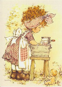 ilclanmariapia: Holly Hobbie , Sarah Kay e le bimbe Sunbonnet Sue Sarah Key, Holly Hobbie, Sara Key Imagenes, Vintage Pictures, Cute Pictures, Papier Kind, Illustrations Vintage, Cute Little Girls, Precious Moments