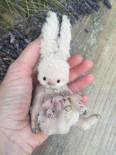 Best 12 Stuffed animal bunny lisa by elena moshkina Diy Teddy Bear, Teddy Bear Clothes, Old Teddy Bears, Teddy Bear Gifts, Teddy Toys, Vintage Teddy Bears, Crochet Teddy, Crochet Bear, Ours Boyds