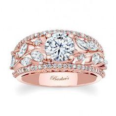 Rose Gold Engagement Ring 7984LPW