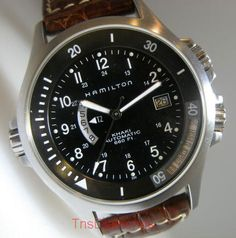 Hamilton khaki navy watch.