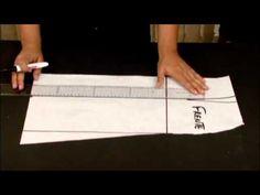 Vídeo: Como fazer molde de saia evasê Mais