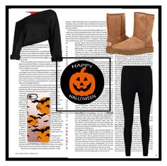 """""""Untitled #115"""" by volleyballstar01 ❤ liked on Polyvore featuring Boohoo, UGG Australia, Casetify and spookedbylida"""