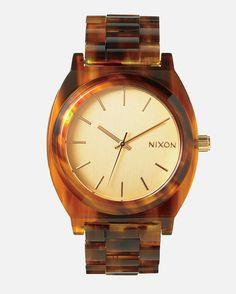 -: Summer Shine :- Summer Time. Nixon Watch Time Teller Acetate - Gold / Molasses
