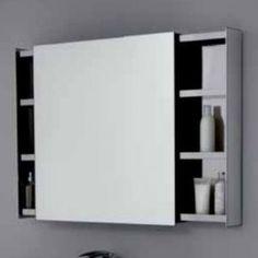 specchio e specchiera bagno tray con luce led perimetrale - arbi ... - Specchio Contenitore Per Bagno