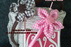 Diademas con flores de tela