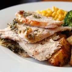 Rosemary Roasted Turkey - This recipe makes your turkey moist and full of flavor. You can also use this recipe for Cornish game hens, chicken breasts or roasting chicken. Select a turkey sized according to the amount of people you will be serving.