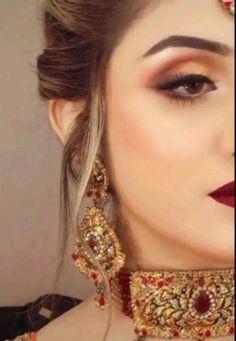Bridal Makeup Images, Bridal Eye Makeup, Bridal Makeup Looks, Bride Makeup, Pakistani Bridal Makeup, Pakistani Wedding Outfits, Bridal Outfits, Fancy Dress Design, Bridal Dress Design