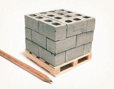 1:12 Scale Miniature Cinder Blocks - 24PK with Pallet