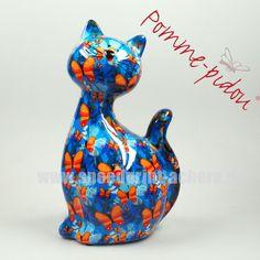 Pomme Pidou Katze Caramel blau Schmetterlinge