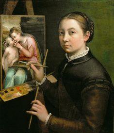 Sofonisba Anguissola, Autoportrait, 1556, Pologne, Lancut Museum