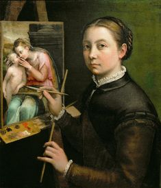 Sofonisba Anguissola (c.1532-1625), 1556, Self-Portrait. She was an #Italian…